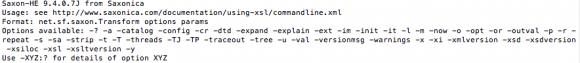 SAXON running via Terminal... It may be super tiny, but at least it isn't Comic Sans, amIright?